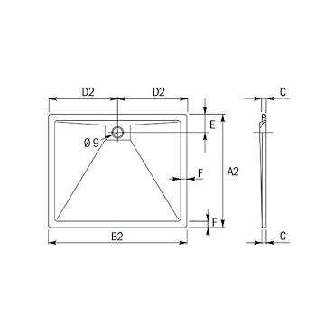 PLANE PIATTO DOCCIA RETTANGOLARE 100 X 80 BIANCO codice prod: DSV15864 product photo Foto1 L2