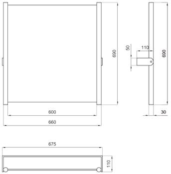 SPECCHIO RECLINABILE CON VETRO DI SICUREZZA SERIE EXPORT CM 60X65 codice prod: DSV10510 product photo Foto1 L2
