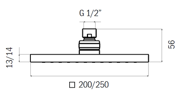 SOFFIONE DOCCIA ANTICALCARE ABS 25X25 SP1,4 CROMO codice prod: DSV15315 product photo Foto1 L2