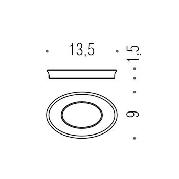 LINK RICAMBIO 2401VAN BACINELLA PORTA SAPONE CROMATO codice prod: B24510-VAN product photo Default L2