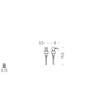 LULU' B93560CR POMPETTA RICAMBIO CROMATO codice prod: B93560CR product photo Default L2