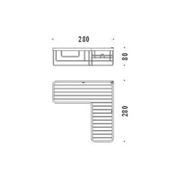 ANGOLARE SEMPLICE codice prod: B96150CR product photo Foto1 L2