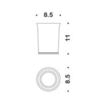LINK B24410 CR -VAN PORTA BICCHIERE D'APPOGGIO CROMATO codice prod: B24410CR-VAN product photo Foto1 L2