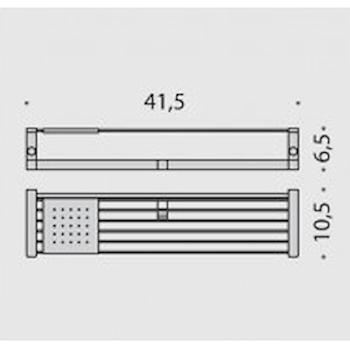 TIME W42750CR  MENSOLA CON GANCI APPENDI ABITI CROMATO codice prod: W42750CR product photo Foto1 L2