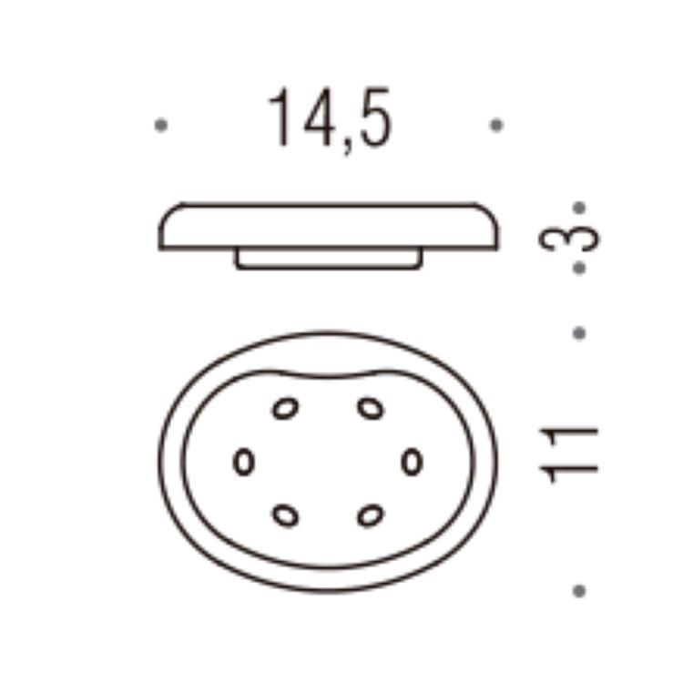 MELO' B12510-VAN PORTA SAPONE RICAMBI B1251 PER ART. B1201; B1201C; B1240 codice prod: B12510-VAN product photo