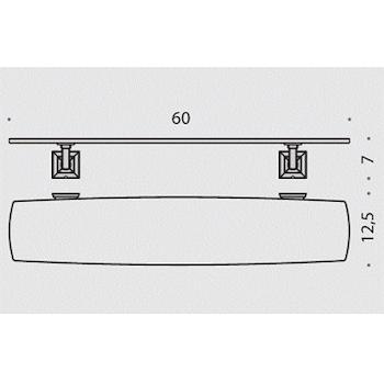 PORTOFINO B32160 CR -VAN MENSOLA 60 CM. CROMATO codice prod: B32160CR-VAN product photo Foto1 L2