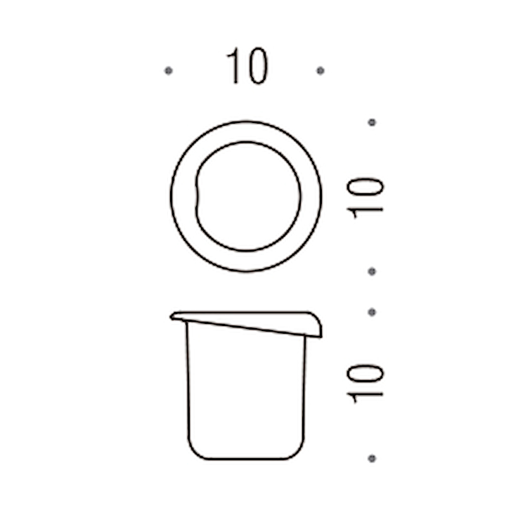 MELO'  B12520-VAN BICCHIERE PER ART. B1202; B1202C; B1240 / VETRO ACIDATO NATURALE  RICAMBI B1252 codice prod: B12520-VAN product photo