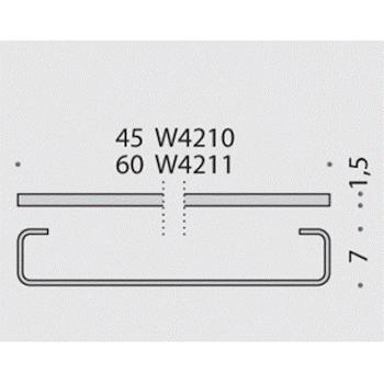 TIME W42110CR PORTA SALVIETTE 60CM. CROMATO codice prod: W42110CR product photo Foto1 L2