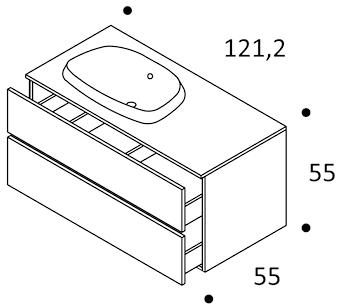 BASE ARAGONA 120 DUE CASSETTONI SX codice prod: DSV15435 product photo Foto1 L2