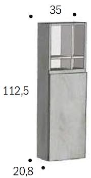 PENSILE FELTRE 1 ANTA SX 35x112,5x20,8 codice prod: DSV15364 product photo Foto1 L2
