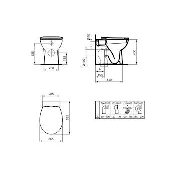 QUARZO WC FILO PARETE codice prod: E070901 product photo Foto1 L2