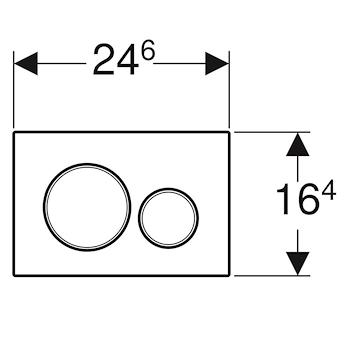 SIGMA 20 115.882.KH.1 PLACCA 2 TASTI CROMATO/SATINATO/CROMATO codice prod: 115.882.KH.1 product photo Foto1 L2
