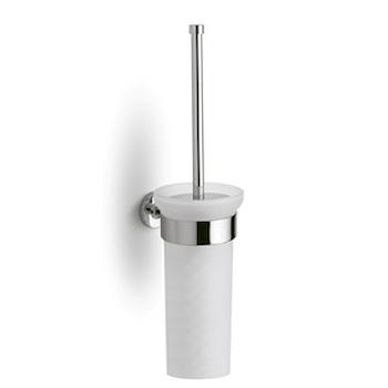 574 Porta scopino a parete con vaso in cristallo satinato codice prod: 1100574 0000 product photo Default L2