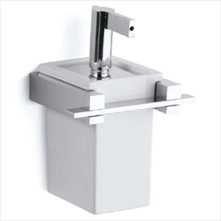 ON-LINE 2528 DISPENSER COMPLETO DI SUPPORTO A PARETE BIANCO codice prod: 12225280200 product photo