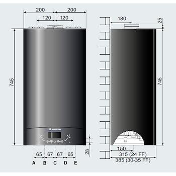 CALDAIA MURALE ALTEAS ONE NET 30 3301059 CONDENSAZIONE codice prod: 3301059 product photo Foto1 L2