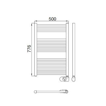 ELECTRIC 770 R/TEMP RAL9016 H776 L500 R.W400 ANALOGICO SCALDASALVIETTE codice prod: DSV16754 product photo Foto1 L2