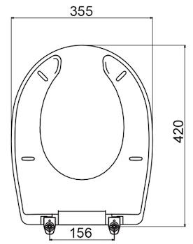 FULL SEDILE APERTURA FRONTALE BIANCO WC/BIDET DSV16573-DSV16576-DSV16579-DSV16580 codice prod: DSV16575 product photo Foto1 L2