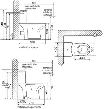 FULL WC APERTURA FRONTALE BIANCO MONOBLOCCO CON CASSET TA codice prod: DSV16579 product photo Foto1 L2