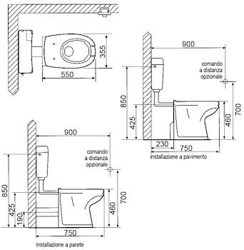 FULL WC APERTURA FRONTALE BIANCO 4PUNTI ANCORAGGIO codice prod: DSV16573 product photo Foto1 L2