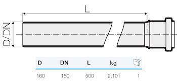 TRISTORM TUBO 1B D.160 L.500 codice prod: IT00045 product photo Foto1 L2