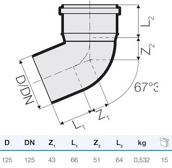 TRISTORM CURVA D.125 67° codice prod: IT00108 product photo Foto1 L2