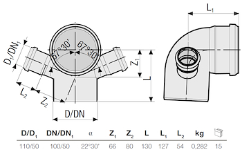 P.P. CURVA 87° D. 110 C/2 ATT. 50 codice prod: DSV01066 product photo Foto1 L2