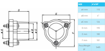 "RACCORDO FEMMINA FLANG 4""X110 GHISA codice prod: DSV05039 product photo Foto1 L2"