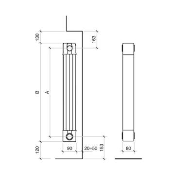 GARDA S/90 1800 RADIAT RAL9010 4EL H1866 I1800 W1200 DT50 RADIATORE ALLUM codice prod: 83F01404 product photo Foto2 L2