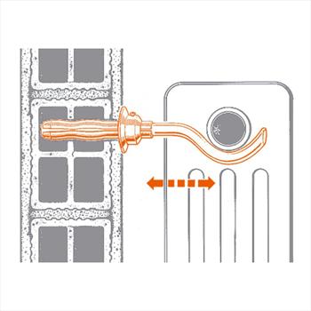 L COPPIA MENSOLE TELESCOPICHE RADIATORI 6 COLONNE GHISA/TUBOLARE ZNT codice prod: 010000 product photo Foto1 L2