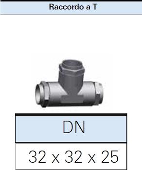 RACCORDO A T PER GAS RIDOTTO 32X32X25 codice prod: DSV16307 product photo Foto1 L2