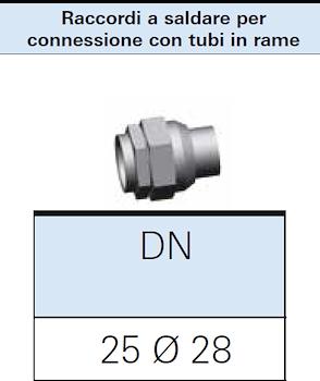 RACCORDO A SALDARE GAS DN25 PER CONNESSIONE 28X1 codice prod: DSV16312 product photo Foto1 L2