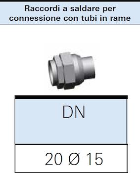 RACCORDO A SALDARE GAS DN20 PER CONNESSIONE 15X1 codice prod: DSV16309 product photo Foto1 L2