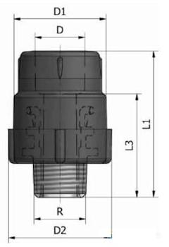 """GIUNTO FILETT. MASCHIO K11 D.50X1""""1 codice prod: DSV02049 product photo Foto3 L2"""