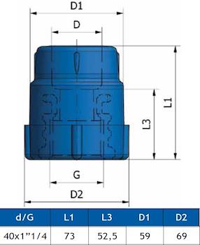 "GIUNTO FILETT. FEMM.K13 D.40X1""1/4 codice prod: DSV02088 product photo Foto1 L2"
