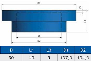 "RACC.PER FLANGIA ""STORM"" K18 D.90 codice prod: DSV02127 product photo Foto1 L2"