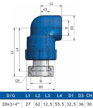 GOMITO C/COD. E DADO K25 D.20X3/4 codice prod: DSV02153 product photo Foto1 L2