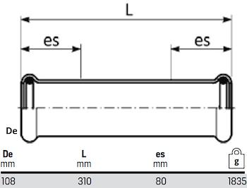 MANICOTTI PASSANTI D.108 codice prod: DSV08229 product photo Foto1 L2