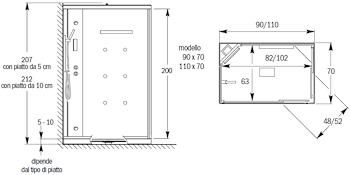 BOX DOCCIA RETT.90X70 IDRO STORM DAY codice prod: DSV15827 product photo Foto1 L2