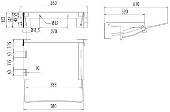 MENSOLA PNEUMATICA X LAVABO ERGONOMICO codice prod: DSV13721 product photo Foto1 L2