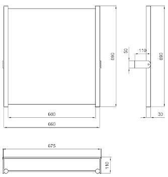 SPECCHIO RECLINABILE CON VETRO DI SIC.INOX codice prod: DSV16181 product photo Foto1 L2