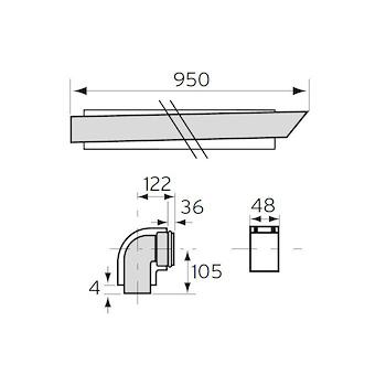 TERMINALE ANTIVENTO 0020201156 CON CURVA 90° 60/100 codice prod: 0020201156 product photo Foto1 L2