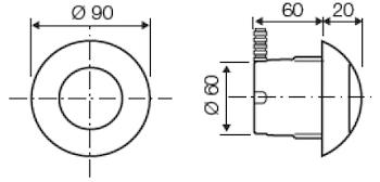 COMANDO PNEUMATICO INCASSO BIANCO X STO codice prod: DSV08160 product photo Foto1 L2