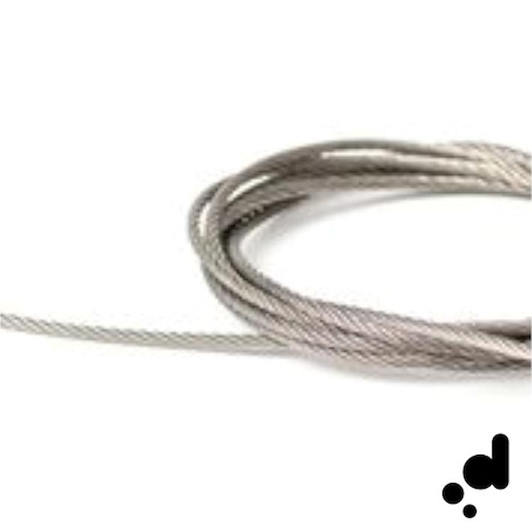 DOT  CAVO IN ACCIAIO INTRECCIATO L.110 CM ACCIAIO codice prod: EVDT011 product photo