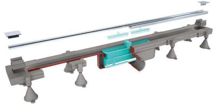 SET GRIGLIA INOX,RITAGLIABILE SU MISURA L.400-800 MM X SC.DOCCIA A PAVIM. codice prod: DSV17117 product photo