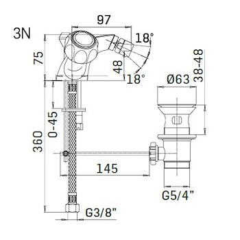 ALFA BETA RUBINETTO BIDET 2 MANIGLIE codice prod: 54660000A151 product photo Foto1 L2
