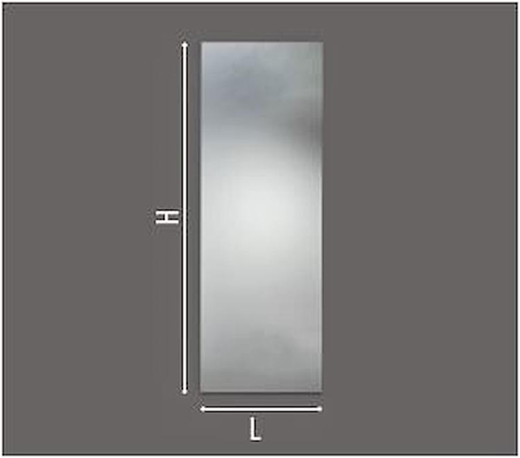 SPECCHIERA SEMPLICE C/TELAIO ALLUMINIO L 50 X H 100 X P 2,5 C/INTERRUTORE codice prod: DSV17587 product photo