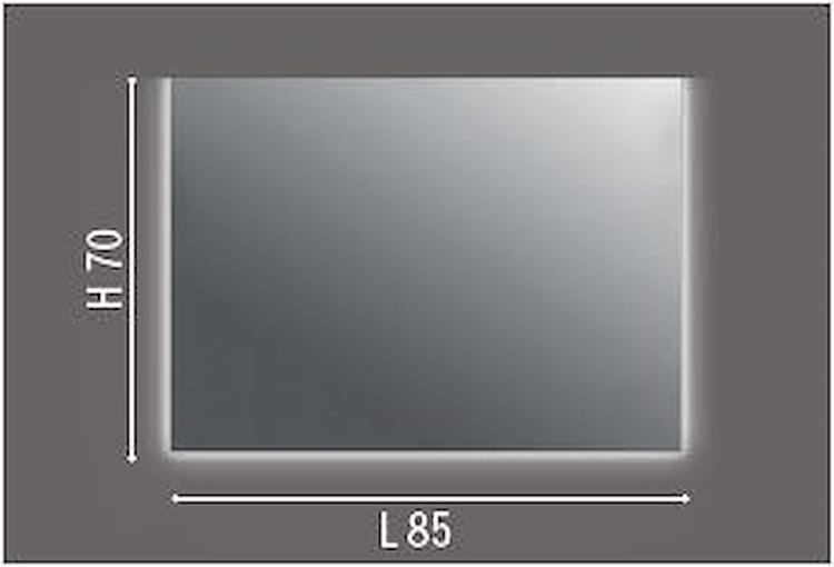 SPECCHIERA SU PANNELLO RETROILLUM.A LED 3 LATI W 13 L85X H70 X P3 SENZA INTERR. codice prod: DSV17588 product photo