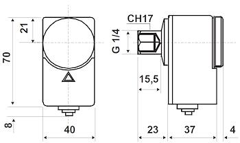 """PRESSOSTATO DI MASSIMA A RIARMO MANUALE ATTACCO G1/4"""" SCALA DA 2/5,5 BAR codice prod: DSV16980 product photo Foto1 L2"""