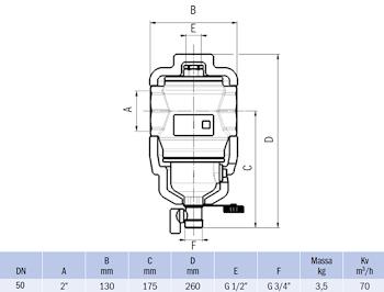 """DEFANGATORE MAGNETICO FILETTATO G 2"""" IN OTTONE CON COIBENTAZIONE codice prod: DSV17826 product photo Foto1 L2"""