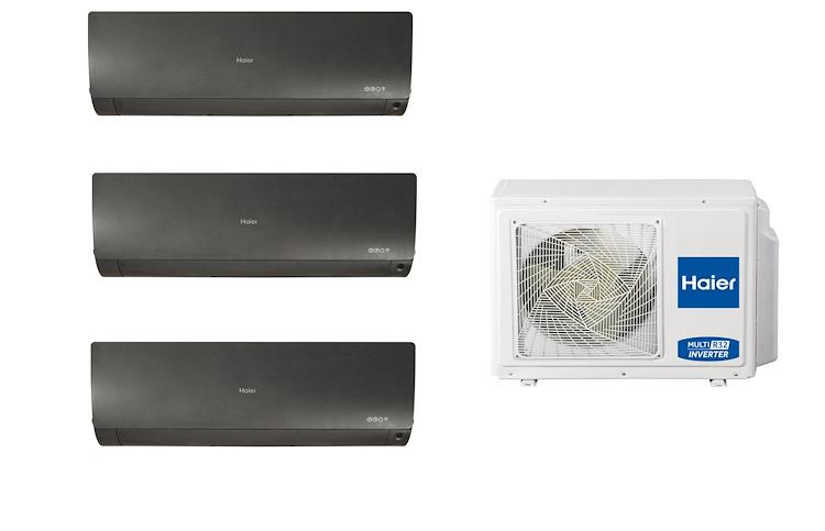 CONDIZIONATORE TRIALSPLIT FLEXIS NERO 3U70S2SR2FA+AS25S2SF1FA+AS25S2SF1FA+AS35S2SF1FA product photo